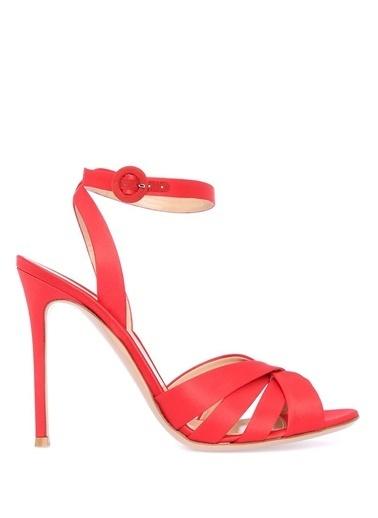 Gianvito Rossi İnce Topuklu Sandalet Kırmızı